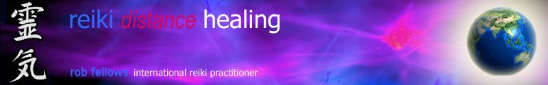 Reiki Distance Healing website title banner